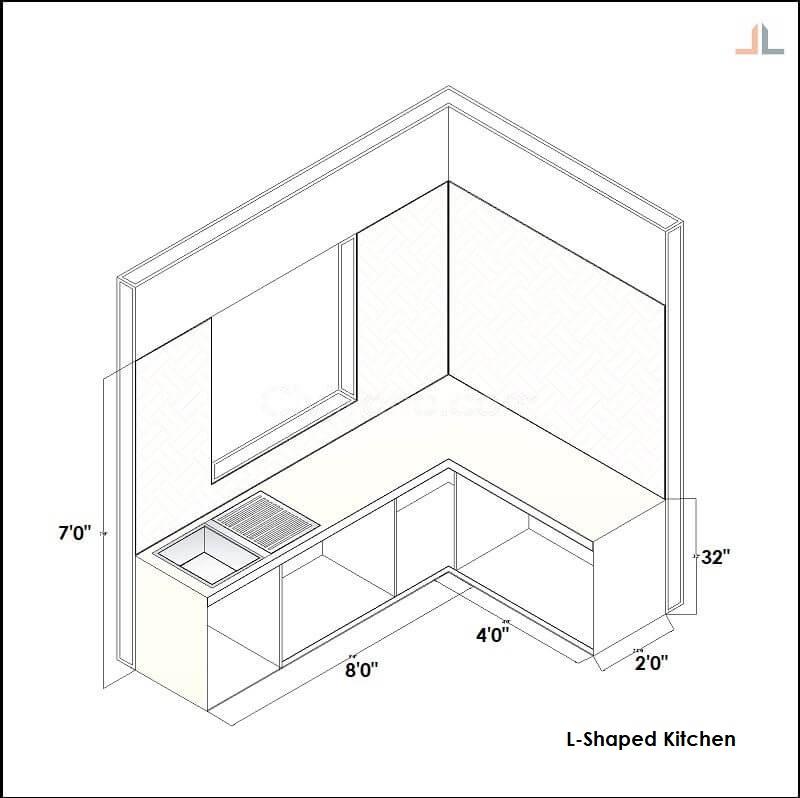 L Shaped Kitchen Platform Nano White Marble 12 Running Feet