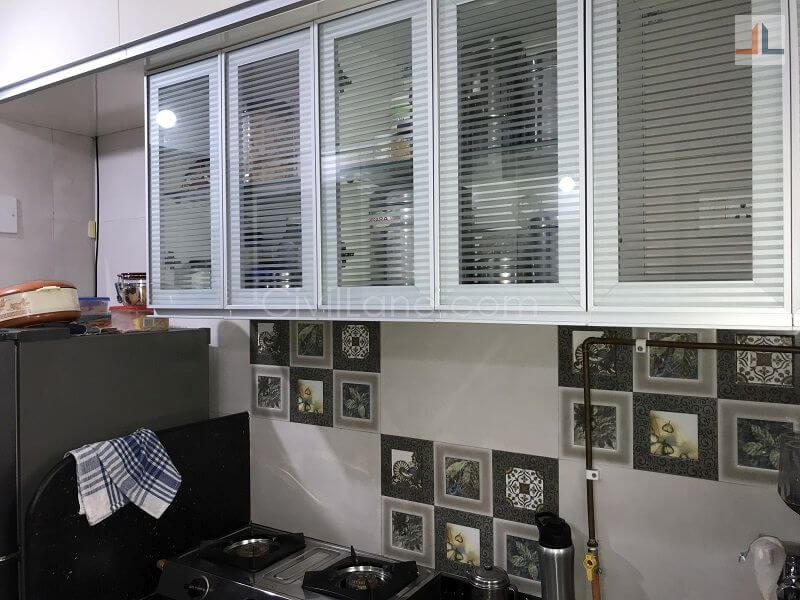 Aluminium profile glass shutters kitchen mumbai