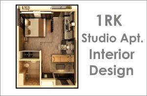1RK Studio Apartment Interior Design Proposal