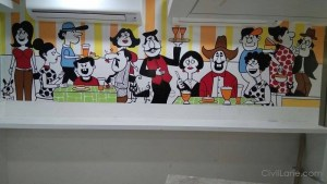 Handpainting Office Canteen