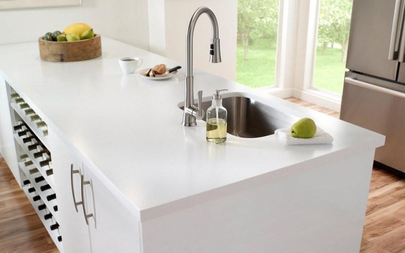 white kitchen countertops reface old cabinets top 5 countertop materials in india civillane corian