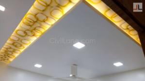 Acrylic Gypsum False Ceiling Design L Shaped