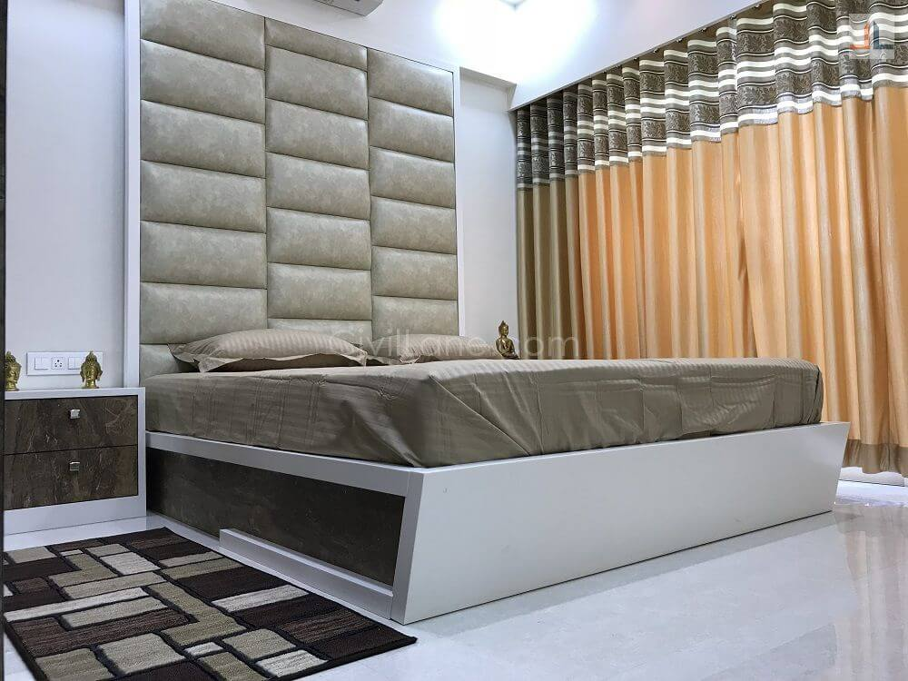 Bed Design With Full Height Headrest Cushion King Size 2019