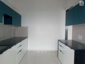 Modular Kitchen Runwal Elegant Lokhandwala Andheri West White Color Laminate Finish (7)