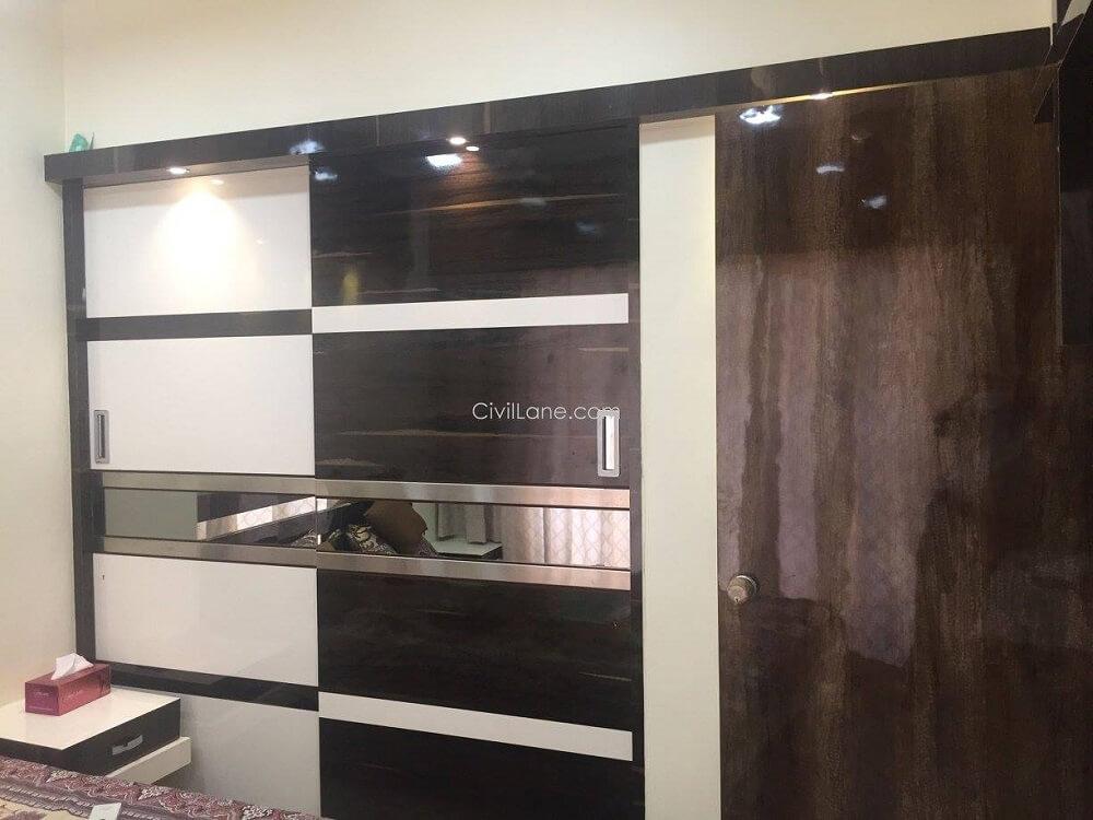 Sliding Wardrobe Design Laminate Glass Kalyan Thane
