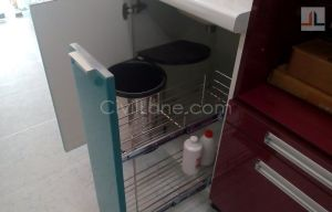 Kitchen detergent pullout below sink area