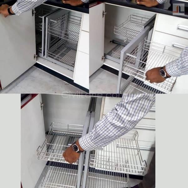 L-Shaped Kitchen Magic Corner