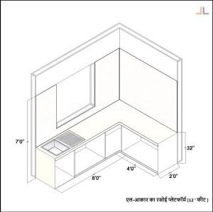 L aakar kichan platform 12 feet