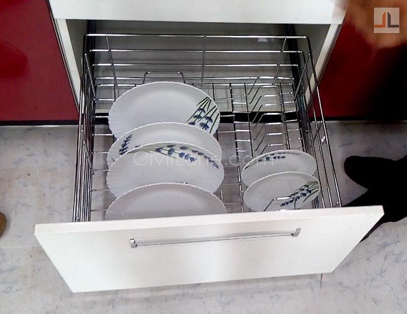 SS Thali Rack Kitchen Internal Basket