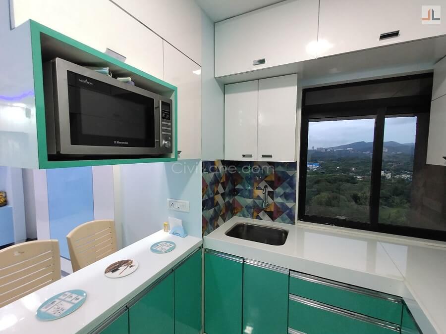 Microwave Oven Arrangement Open Kitchen