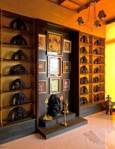 Seating Ganesh Prayer Area