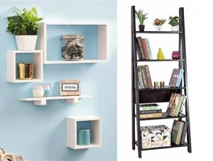 Floating and open shelves