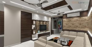 3D Drawing Room Design