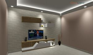 TV Unit Design 8 Feet 14586SF-2