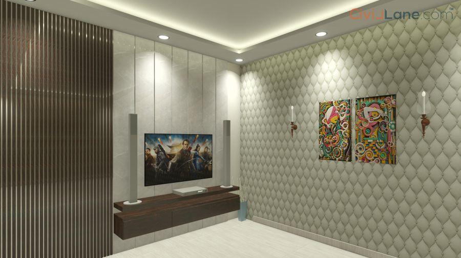 TV Unit Design 9-5 Feet 10515MR-3