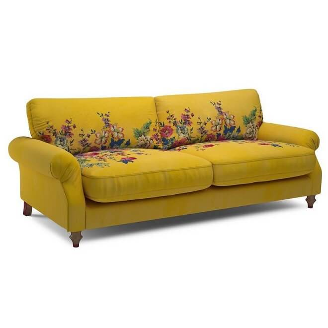 Pick a sofa color bright printed or neutral