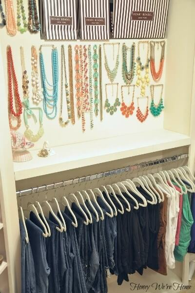 organize closet like boutique