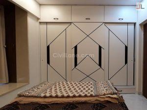 Bedroom Wardrobe Design Royal Black N White India