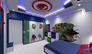 Avenger Theme Bedroom Design For Kids