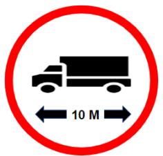 "Symbol image of ""Length Limit"" sign"