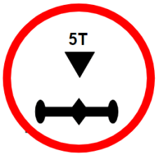 "Symbol image of ""Axle Load Limit"" sign"