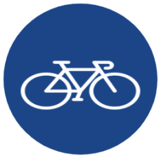 "Symbol image of ""Compulsory Cycle Track"" sign"