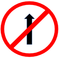 "Symbol image of ""No entry"" sign"
