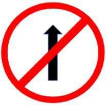 "Symbol image of ""No entry"" sign"
