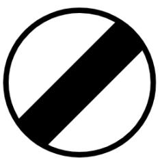 """Symbol image of """"Restriction Ends"""" sign"""