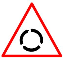 """Symbolic image of """"Roundabout"""" sign"""