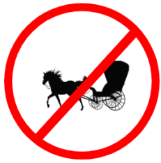"""Mandatory or Regulatory road  Signs or traffic signs - Tongas Prohibited 