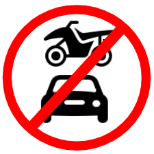 "Mandatory or Regulatory road  Signs or traffic signs - All Motor Vehicles Prohibited || symbolic image of ""All Motor Vehicles Prohibited"" Sign"