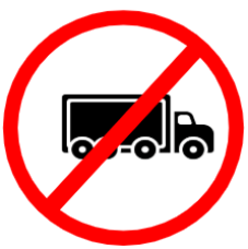 "Mandatory or Regulatory road  Signs or traffic signs - Trucks Prohibited || symbolic image of ""Trucks Prohibited"" Sign"