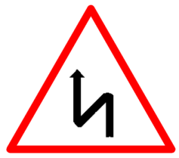 "Cautionary or Warning road  Signs or traffic signs - Right Reverse Bend || symbolic image of ""Right Reverse Bend"" Sign"