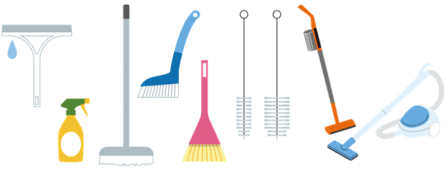 routinely wash your cleaning tools