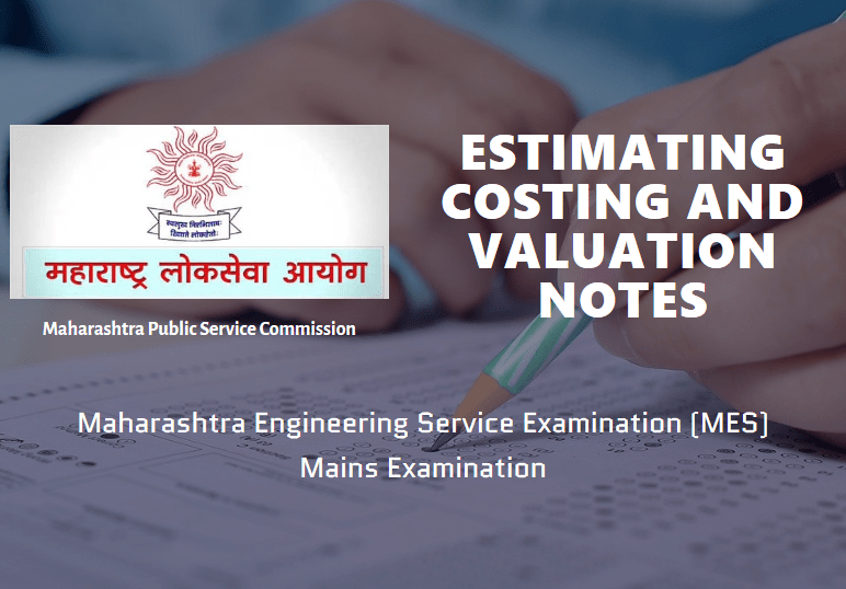 Estimating Costing and Valuation Notes MES Exam
