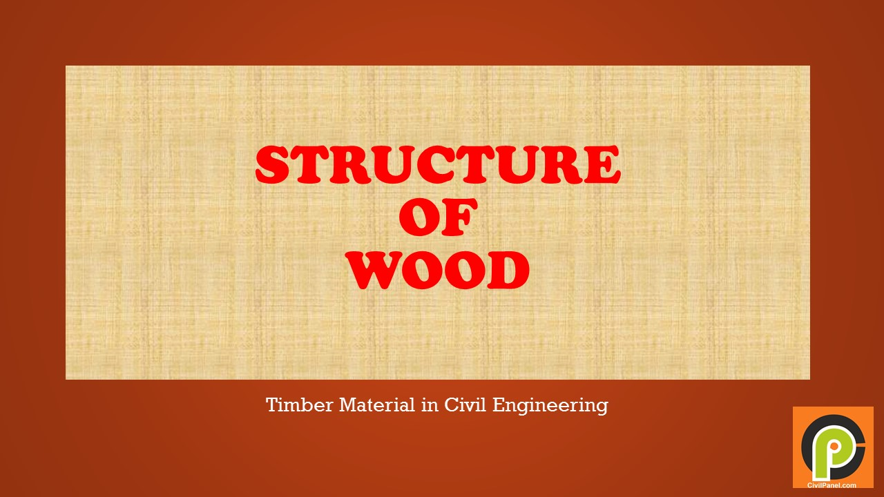 Structure of wood civil engineering panel