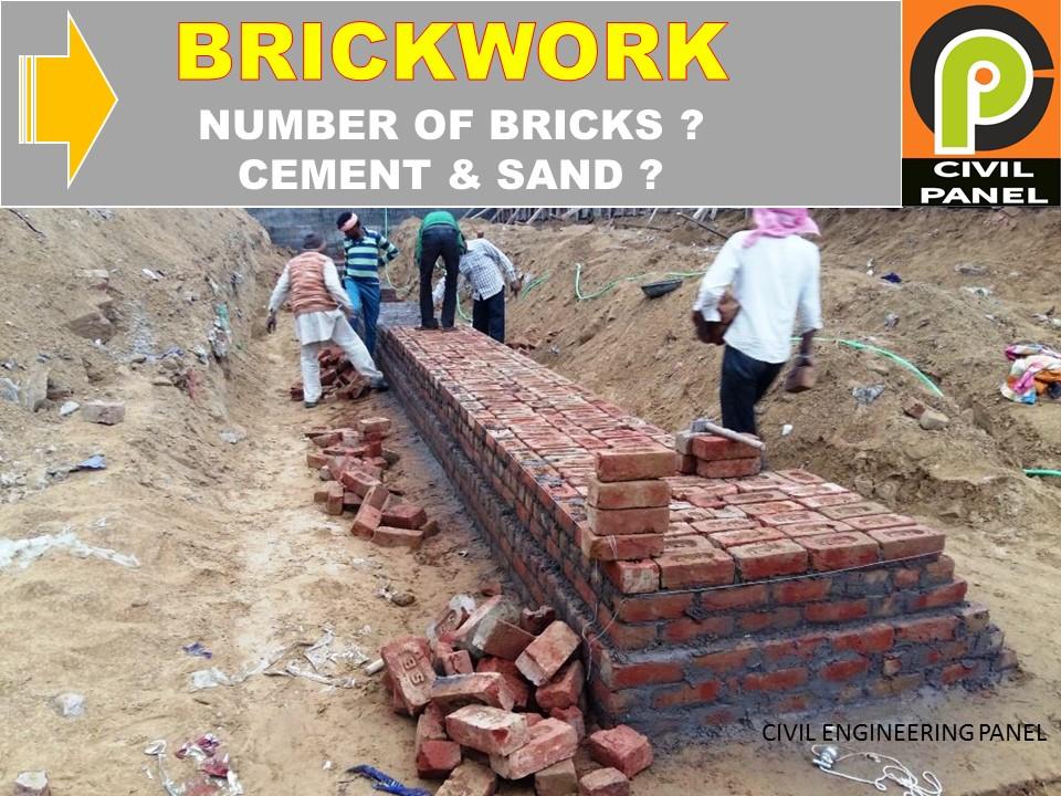 BRICKWORK CEMENT SAND QUANTITY