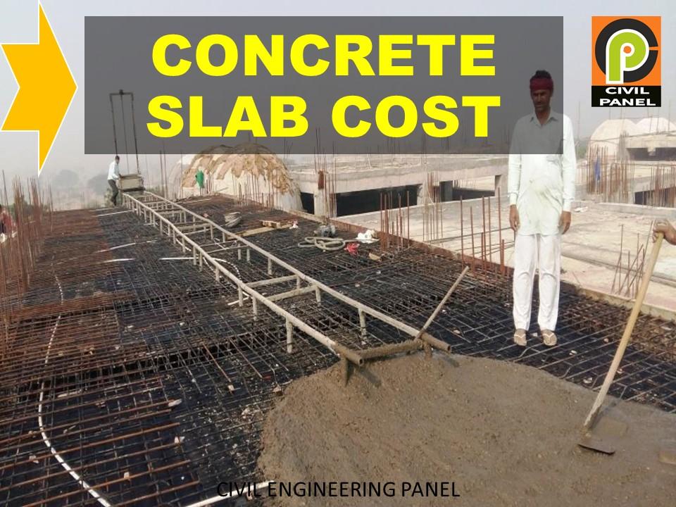 cost per sq ft concrete slab