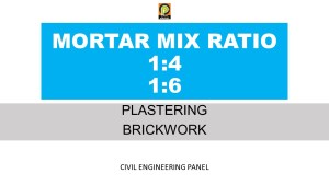 MORTAR MIX RATIO FOR WALL PLASTERING & BRICKWORK