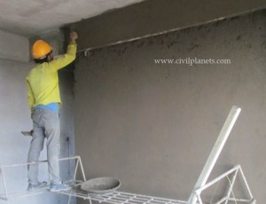 Plastering calculation, cement plastering thickness