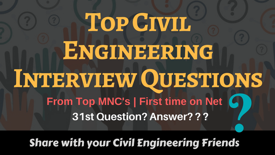 Top Civil Engineering Interview Questions | CivilRead |