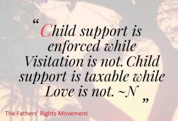 Enforce Visitation NOT Child Support - 2016