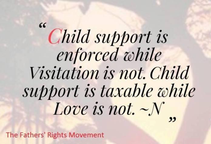 Enforce Visitation NOT Child Support - 2016