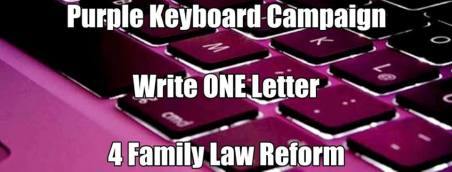 Purple Keyboard Campaign 4 Family Justice Law Reform - 2015