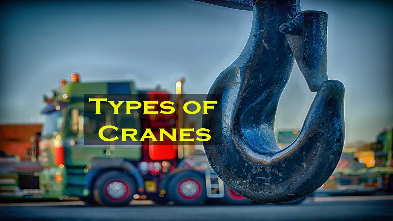 hight resolution of different types of cranes