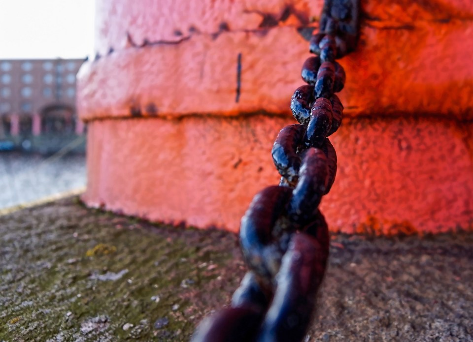 Chain by Liverpool docks