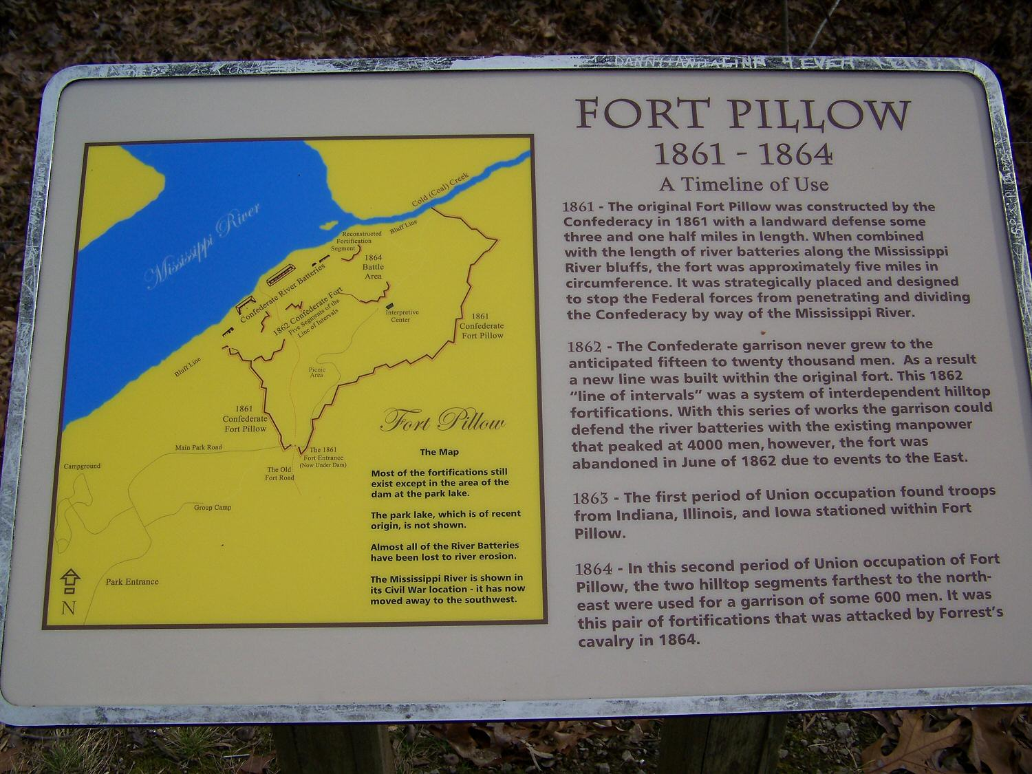 Fort Pillow site photos