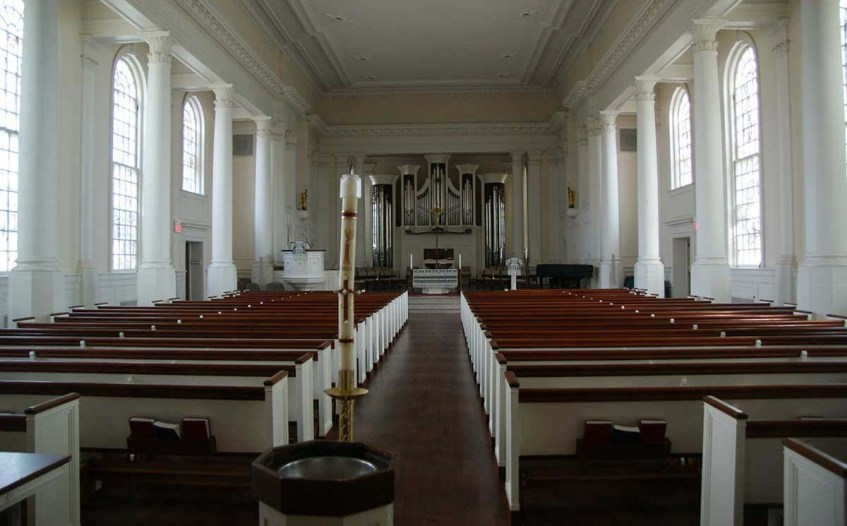 A view inside the Lutheran Seminary chapel