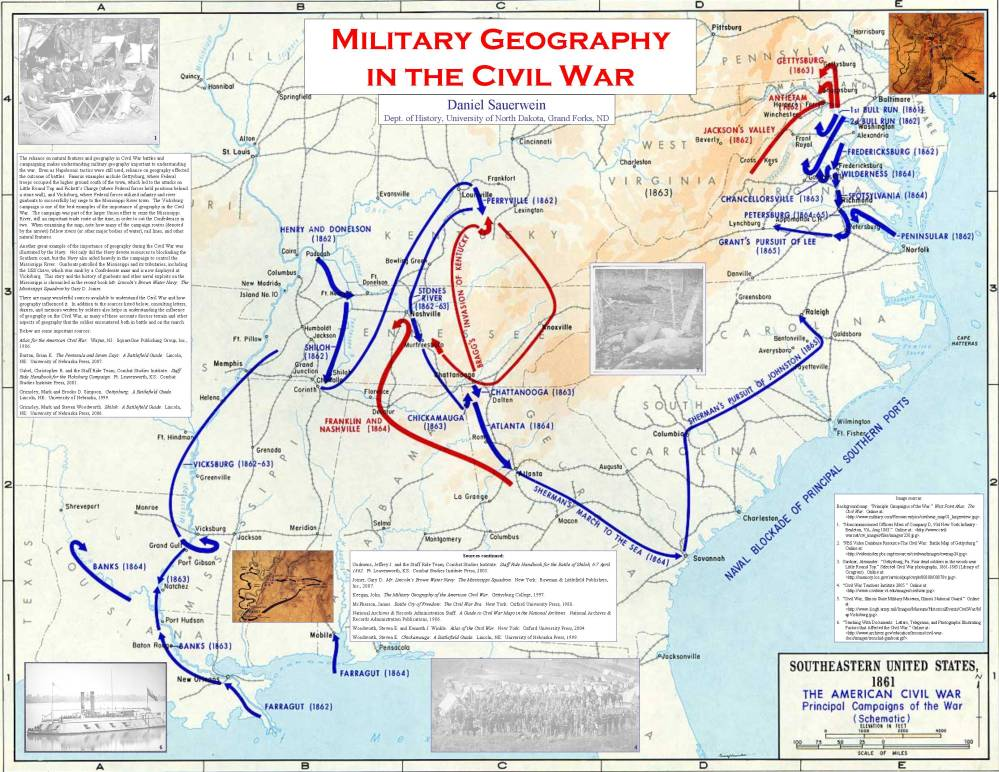 Military Geography in the Civil War